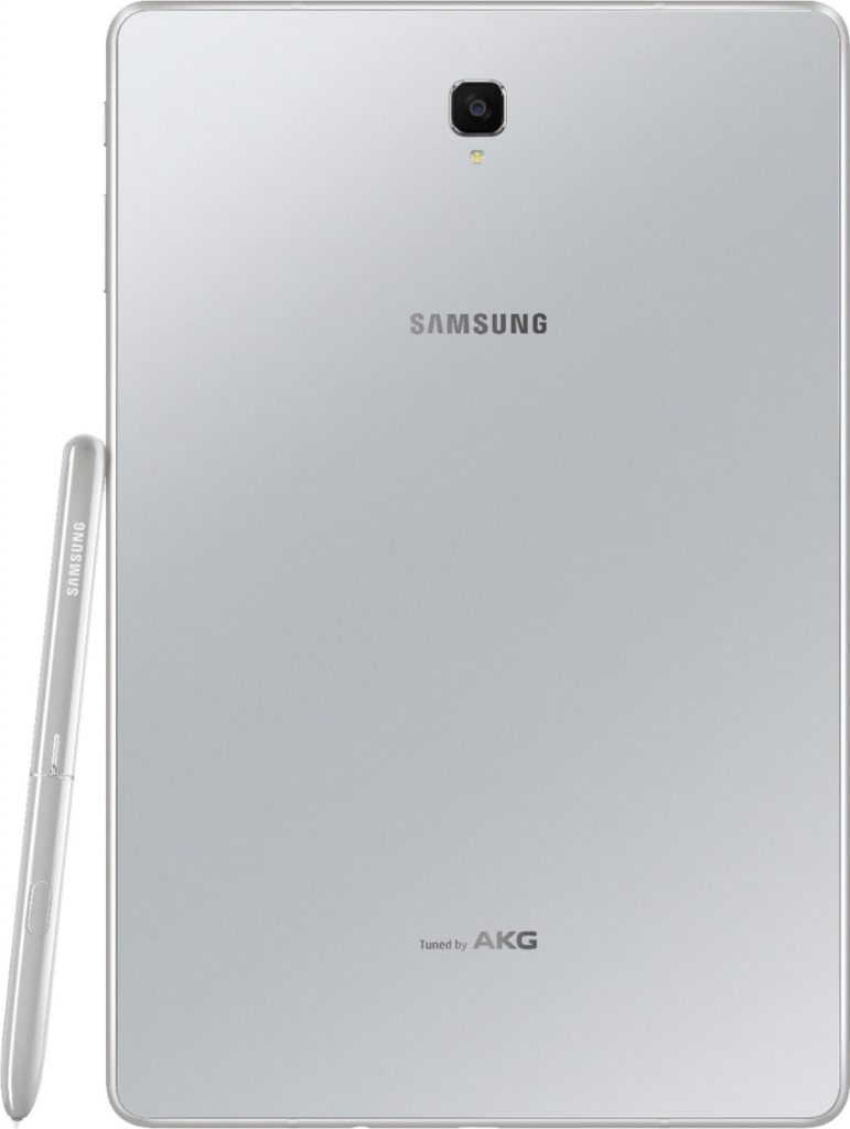 galaxy tab s4 zilver achterkant