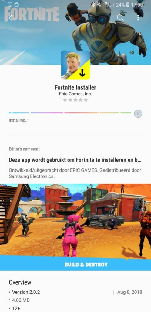 samsung fortnite galaxy apps