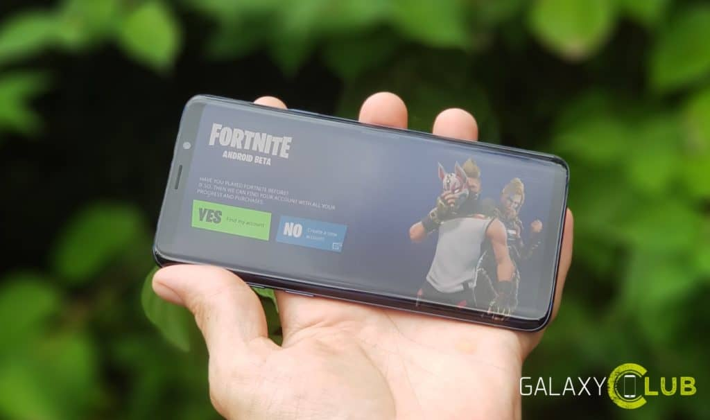 SAMSUNG GALAXY NOTE S9 FORTNITE