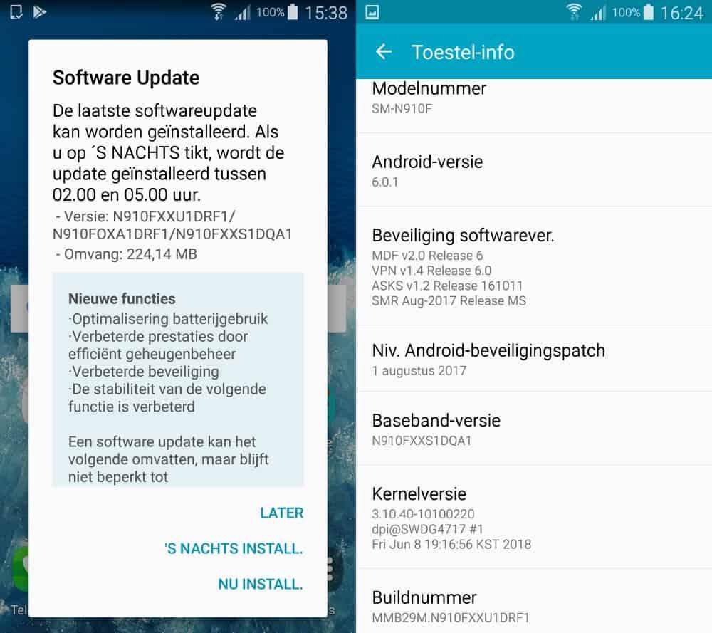 Opvallend: Galaxy Note 4 krijgt nieuwe update voor
