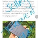 samsung galaxy note 9 schrijven op het scherm 3