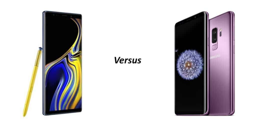 samsung galaxy note 9 vs s9 vergelijking verschillen
