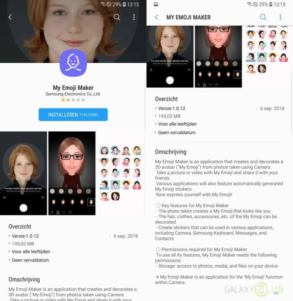 samsung galaxy s8 my emoji maker app note 8