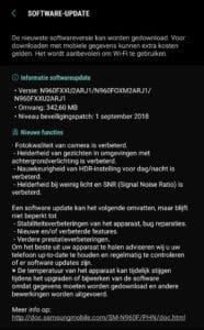 galaxy note 9 camera update nederlands changelog