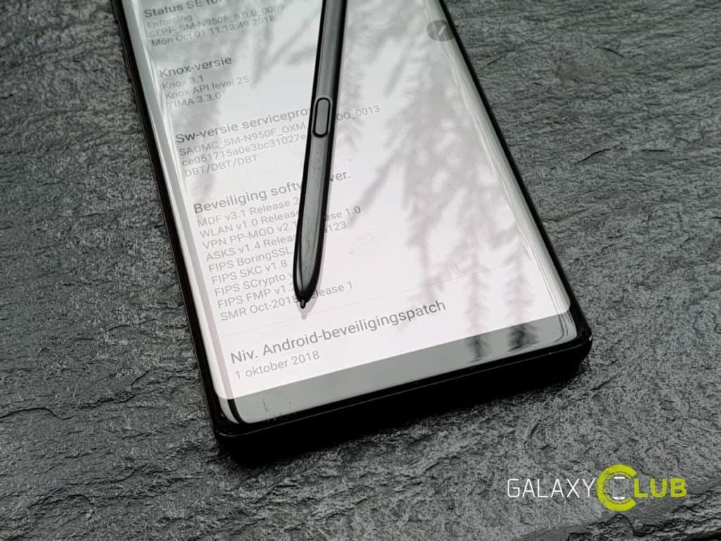 samsung galaxy note 8 update oktober 2018