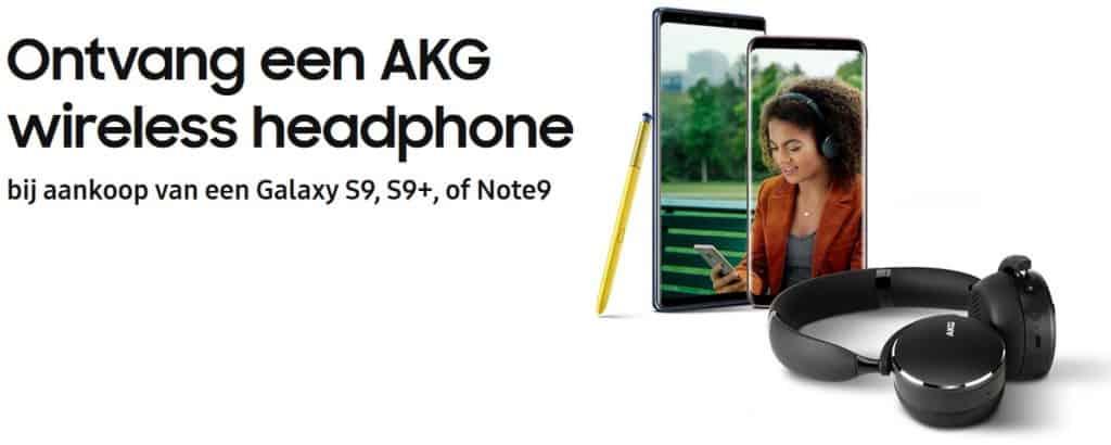 samsung galaxy s9 gratis koptelefoon akg actie