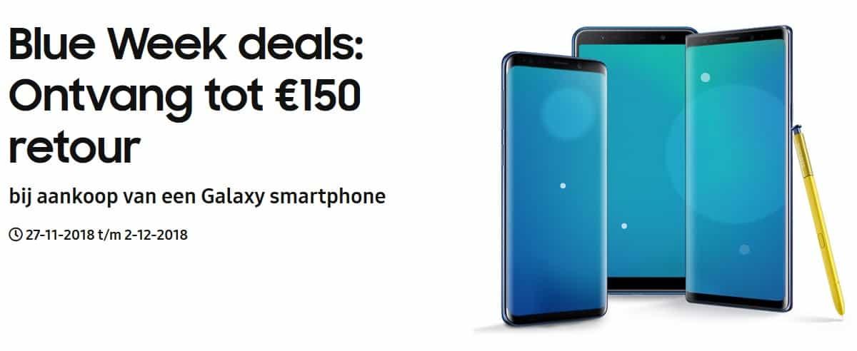 Samsungs Blue Week Deals Tot 150 Korting Op Veel Galaxy Telefoons