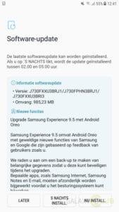 samsung galaxy j7 2017 update android 8.1 oreo nederland 1 changelog