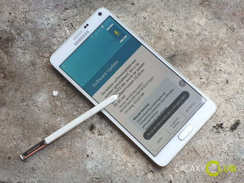 samsung galaxy note 4 update herfst 2018