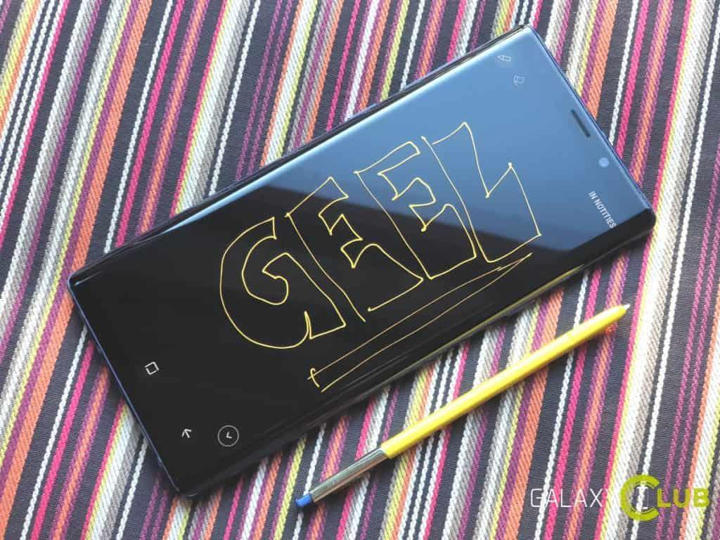 samsung galaxy note 9 tip s pen schrijf kleur veranderen