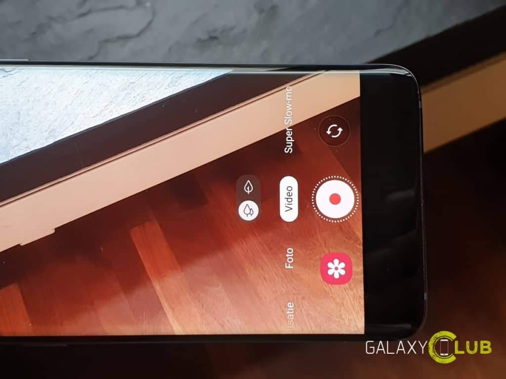 samsung galaxy s9 met android 9.0 pie: camera met aparte video stand