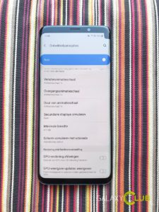 samsung galaxy s9 met hoek notch