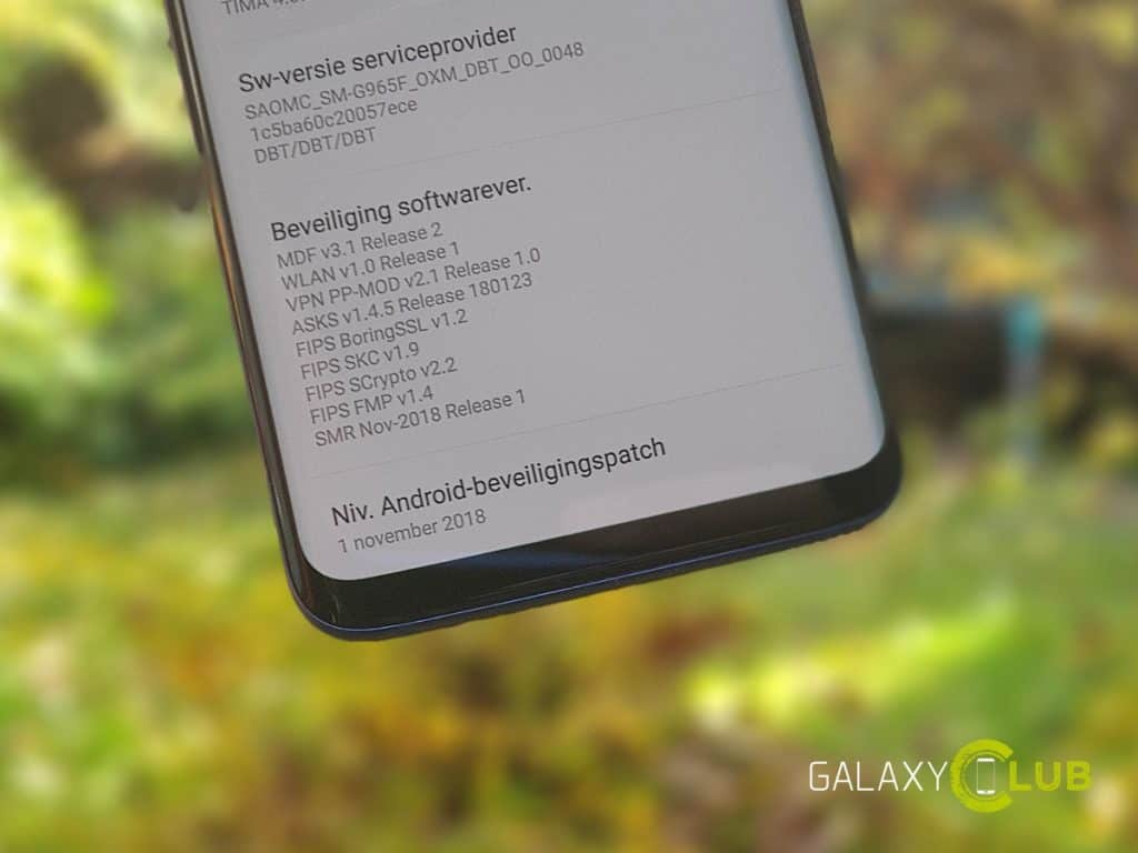 samsung galaxy s9 update november 2018 nederland