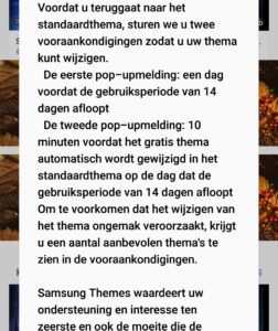 samsung melding thema beperking android 9.0 2
