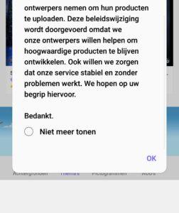 samsung melding thema beperking android 9.0 3