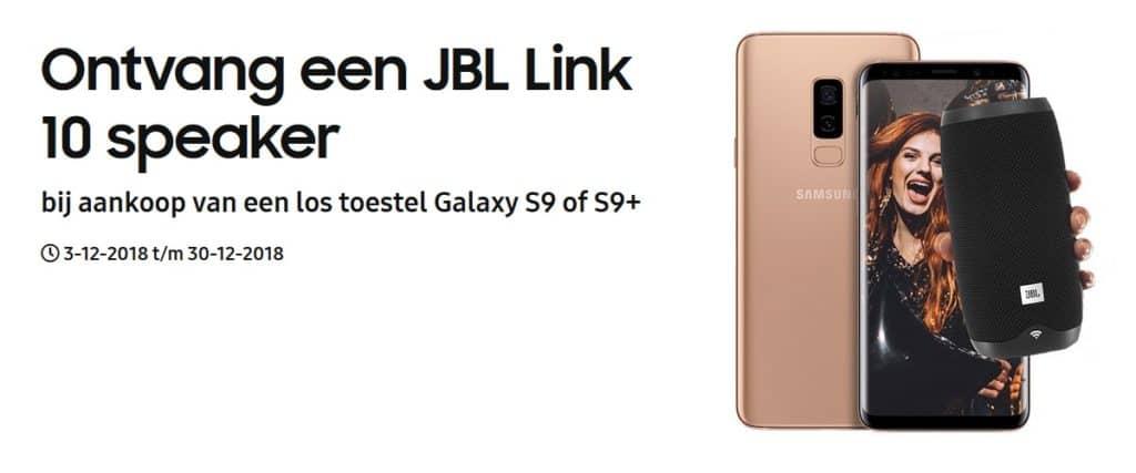 Samsung Galaxy S9 Met Gratis Jbl Bluetooth Speaker Actie