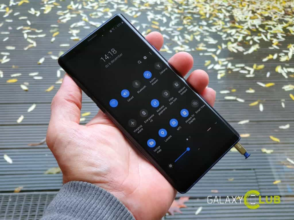 samsung galaxy note 9 android 9.0 preview in het nederlands