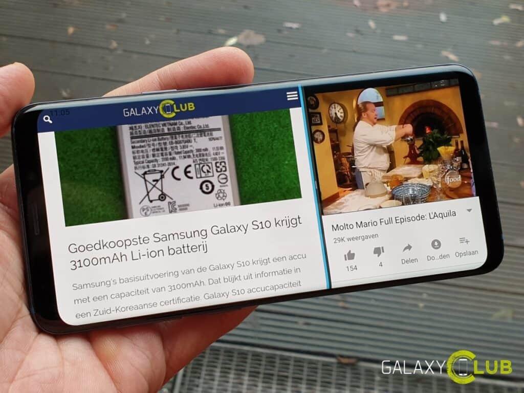 samsung galaxy s9 android 9.0 pie multiwindow meerdere apps gebruiken