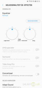 galaxy s8 geluidseffecten in Android Oreo