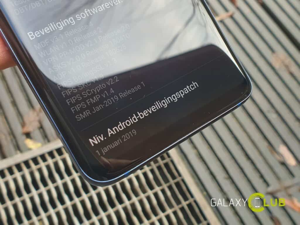 samsung galaxy s9 update januari 2019