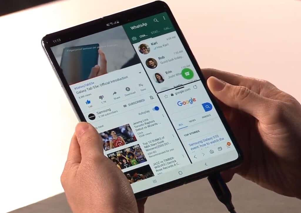samsung galaxy fold release uitgesteld