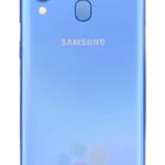 galaxy a40 blauw achter