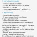 samsung galaxy a7 update februari 2019 changelist