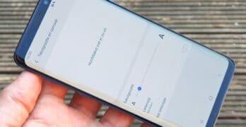 samsung galaxy s9 s8 note android 9 one ui tekstgrootte aanpassen
