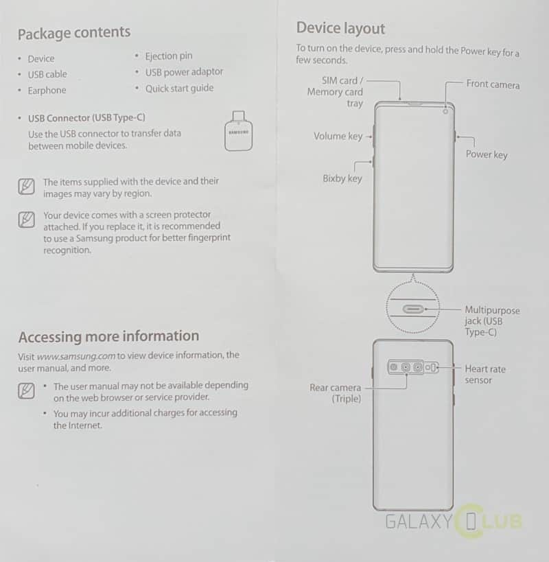 samsung galaxy s10 gescand document