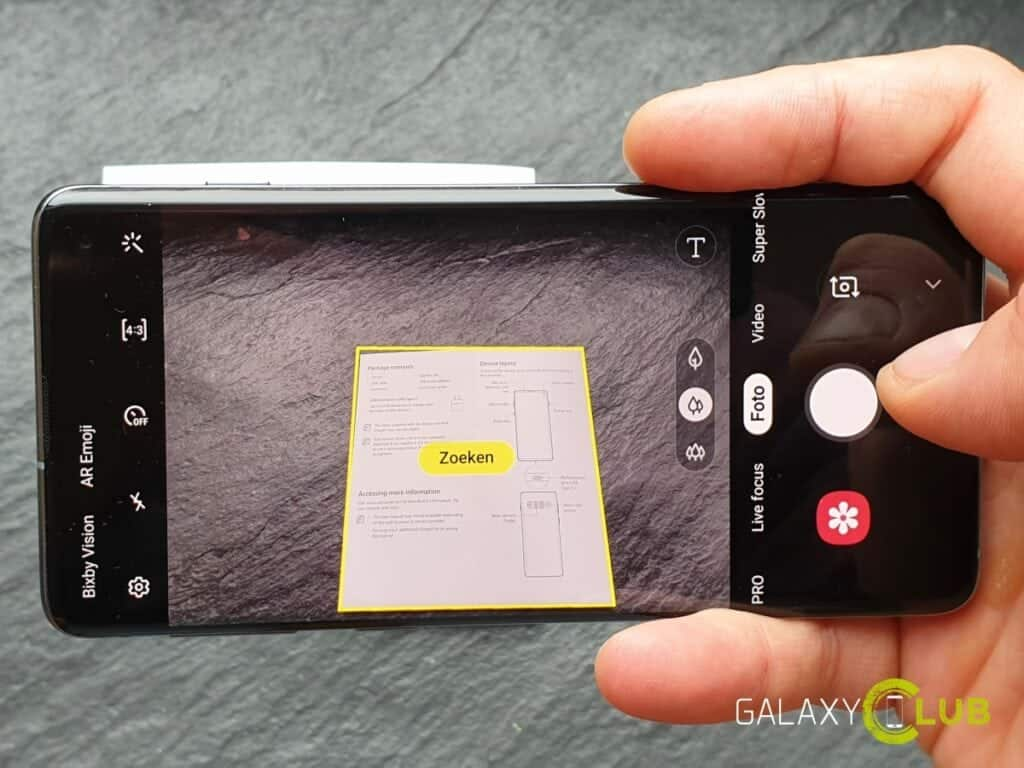 Samsung Galaxy S10 camera tip document scannen
