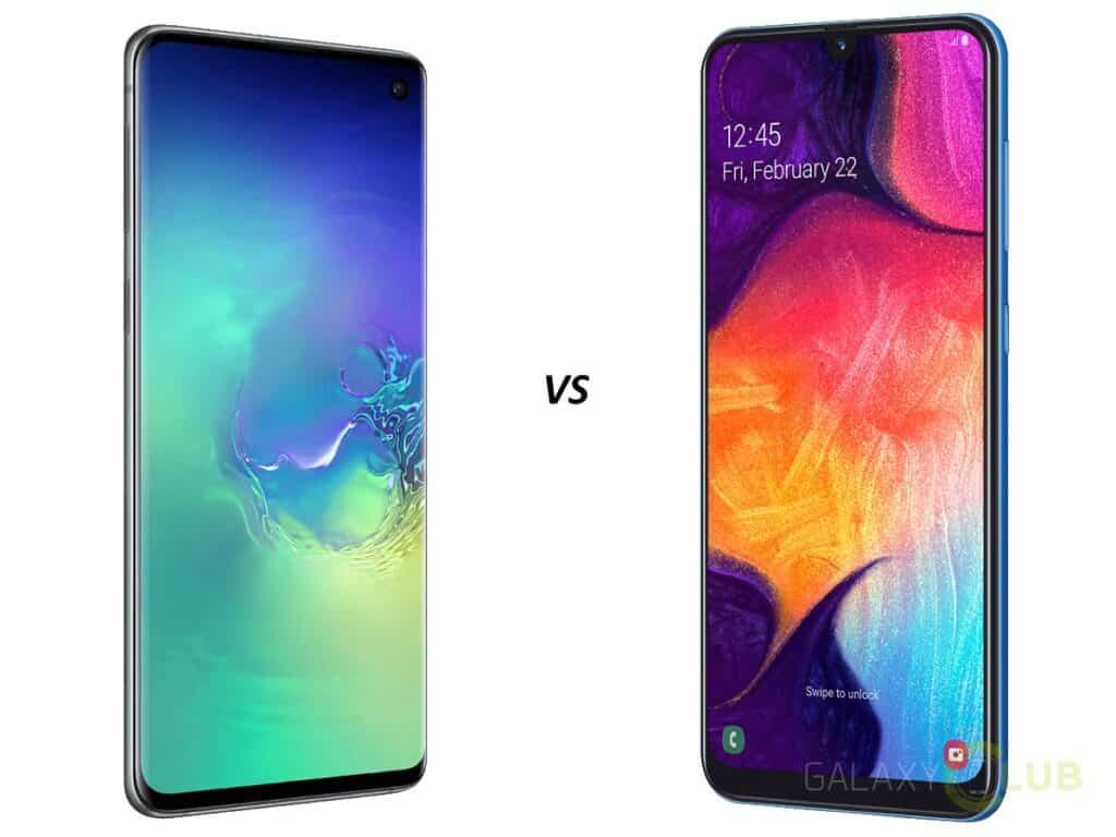 Samsung Galaxy S10 vs Galaxy A50 vergelijking en verschillen
