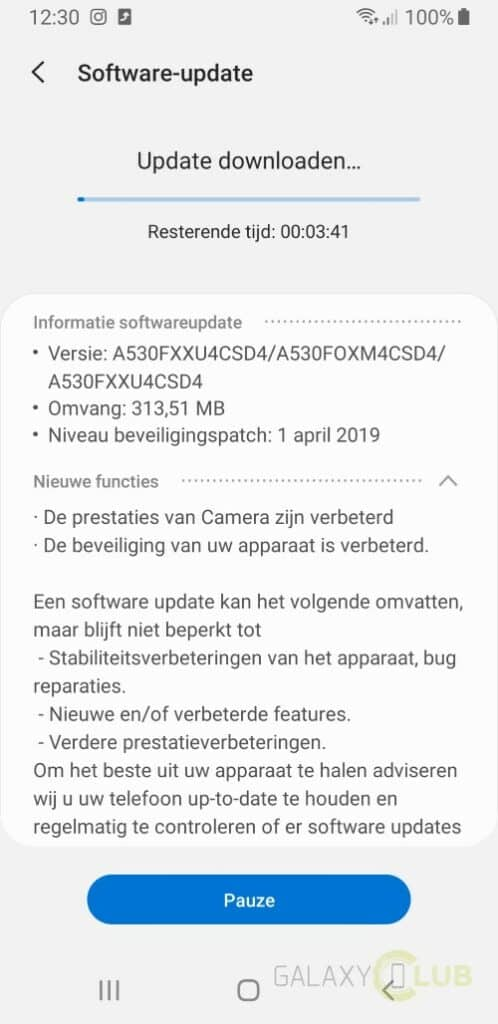 samsung galaxy a8 update april 2019 changelist