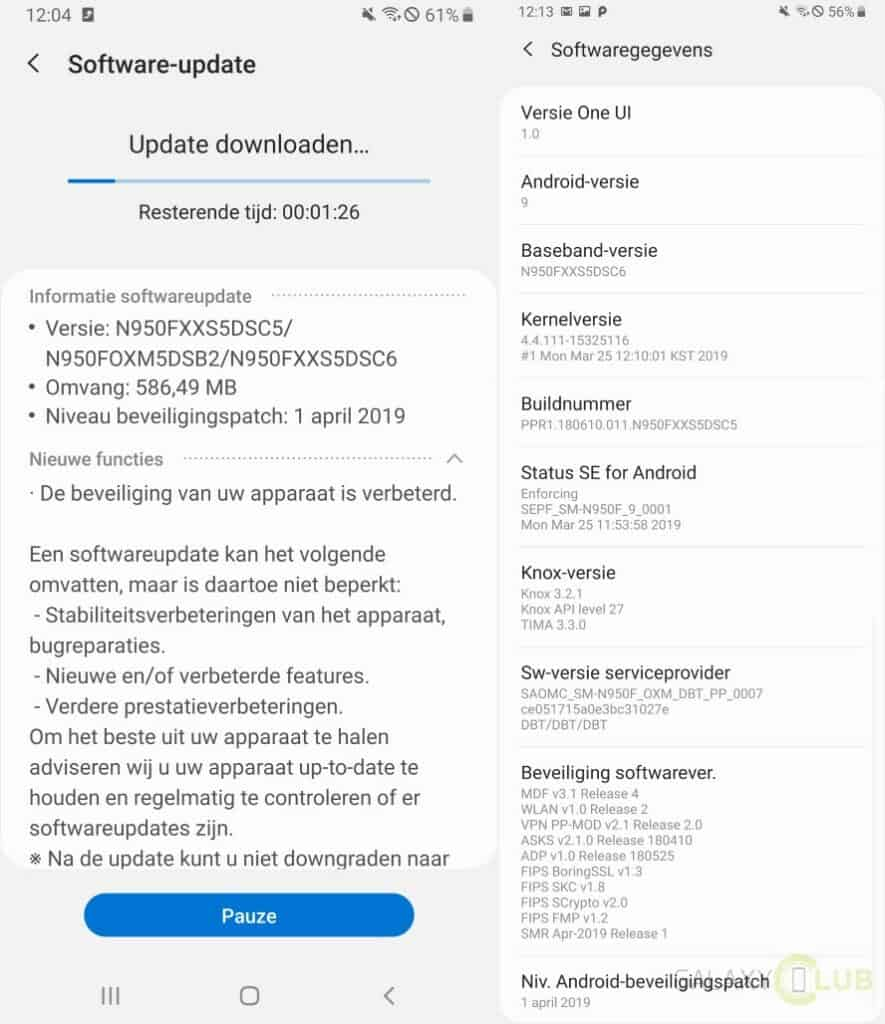 galaxy note 8 update april 2019 changelist n950fxxs5dsc5