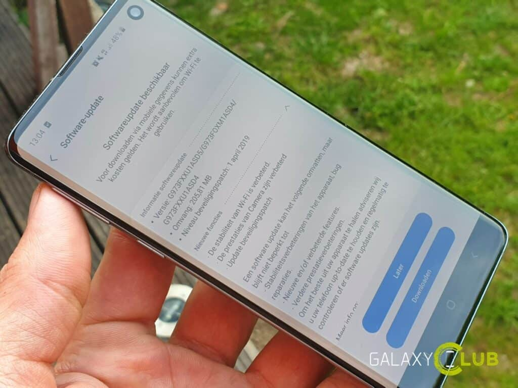 samsung galaxy s10 update april 2019