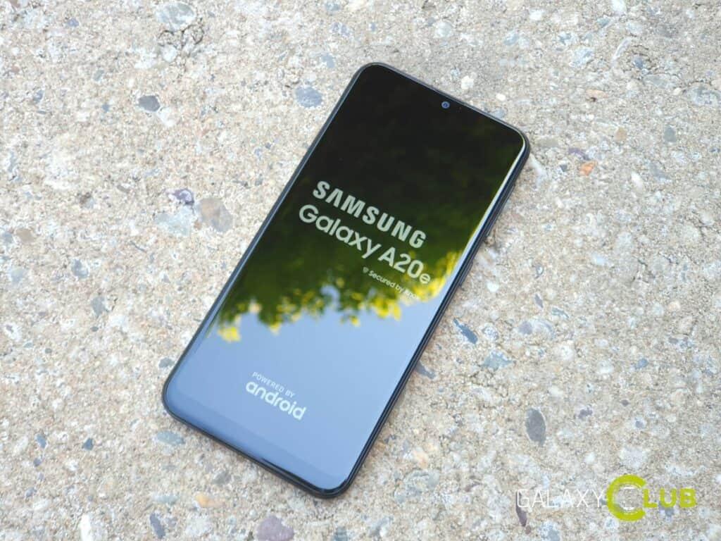 samsung galaxy a20e android 10