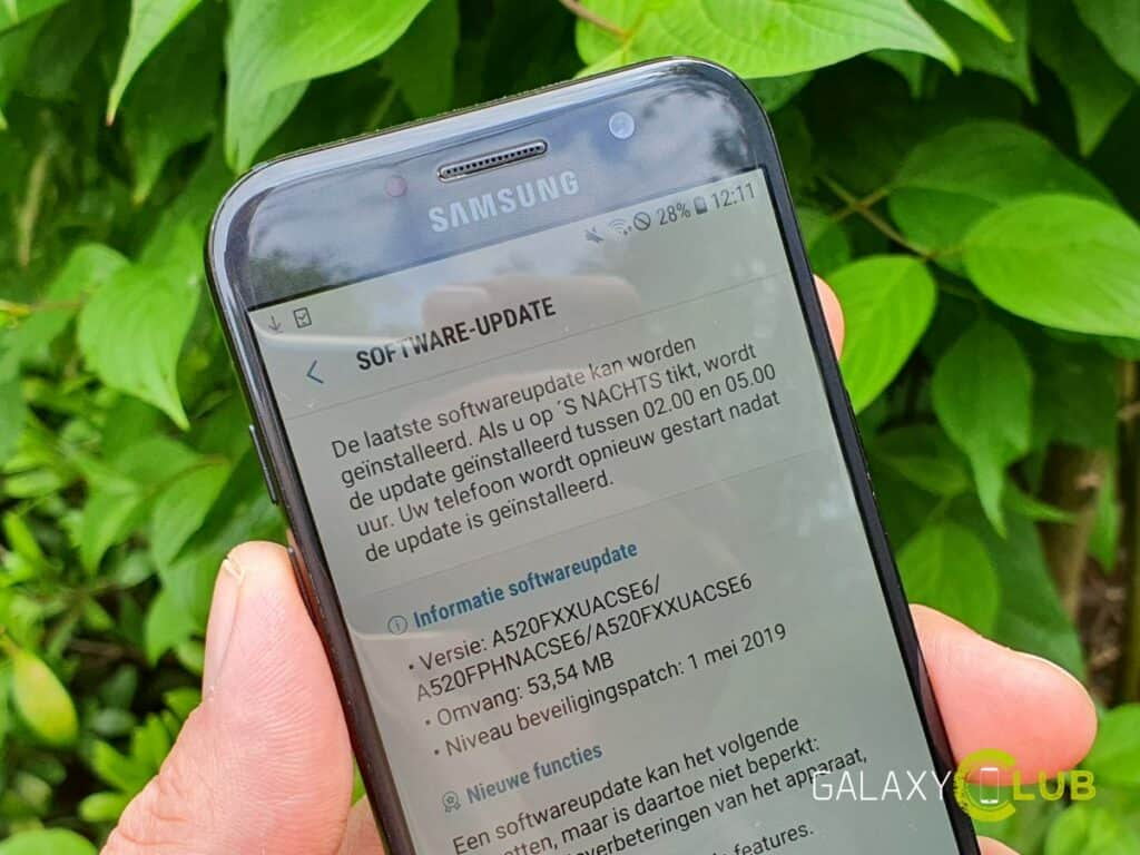 samsung galaxy a5 2017 update mei 2019