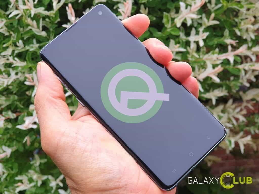 samsung test galaxy s10 met android 10