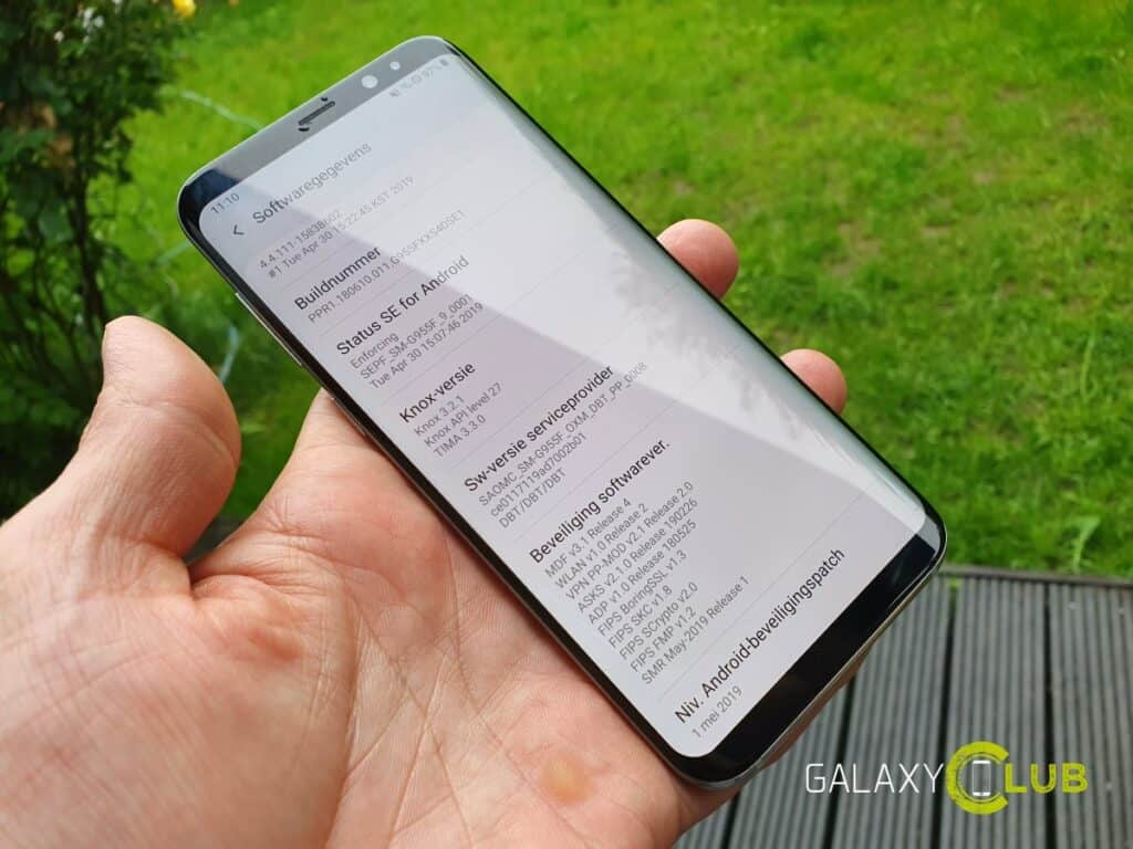 samsung galaxy s8 update mei 2019