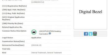 samsung digital bezel trademark