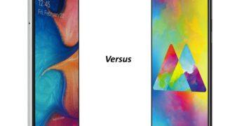 samsung galaxy m20 versus a20e vergelijking en verschillen