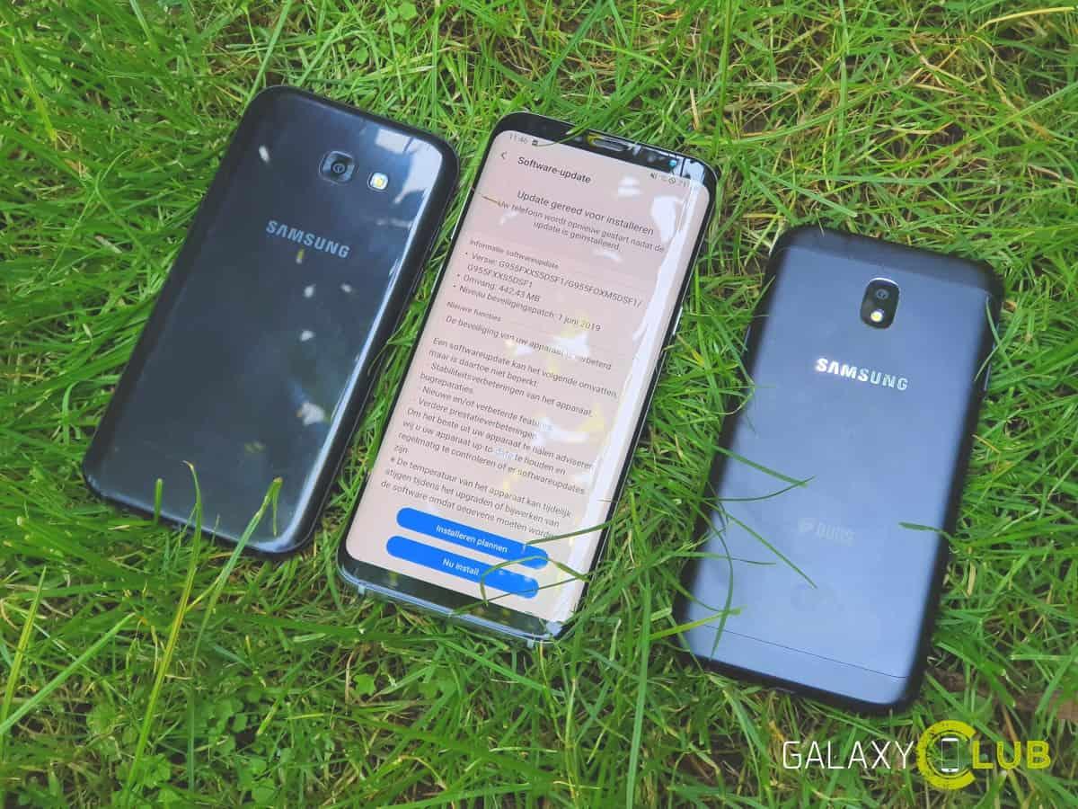 Galaxy S8 updates in Nederland