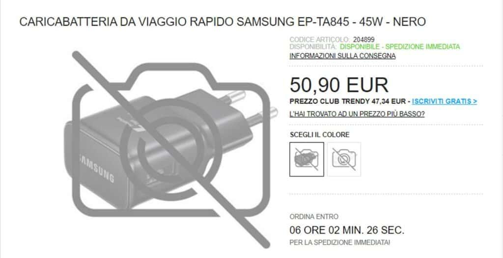 samsung ep-ta845 45 watt lader voor de Galaxy Note 10