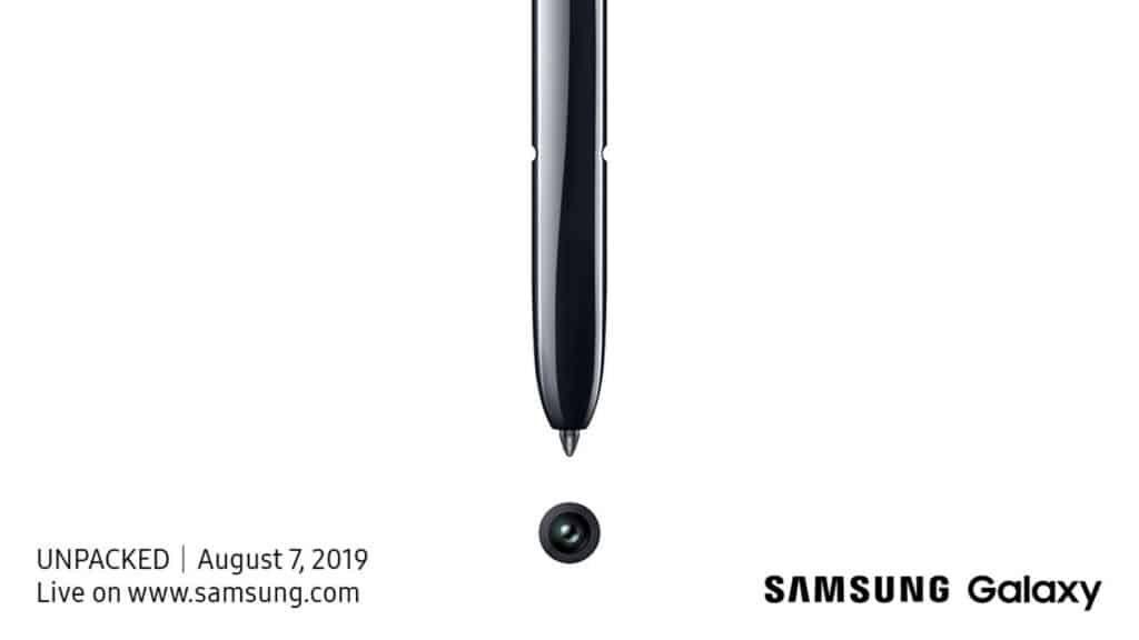 samsung galaxy note 10 unpacked 7 augustus