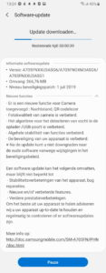 galaxy a70 juli update changelog