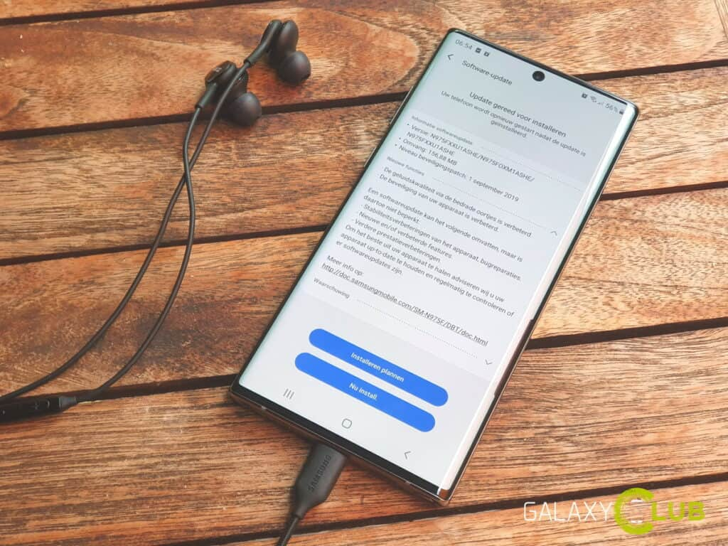 samsung galaxy note 10 update september 2019