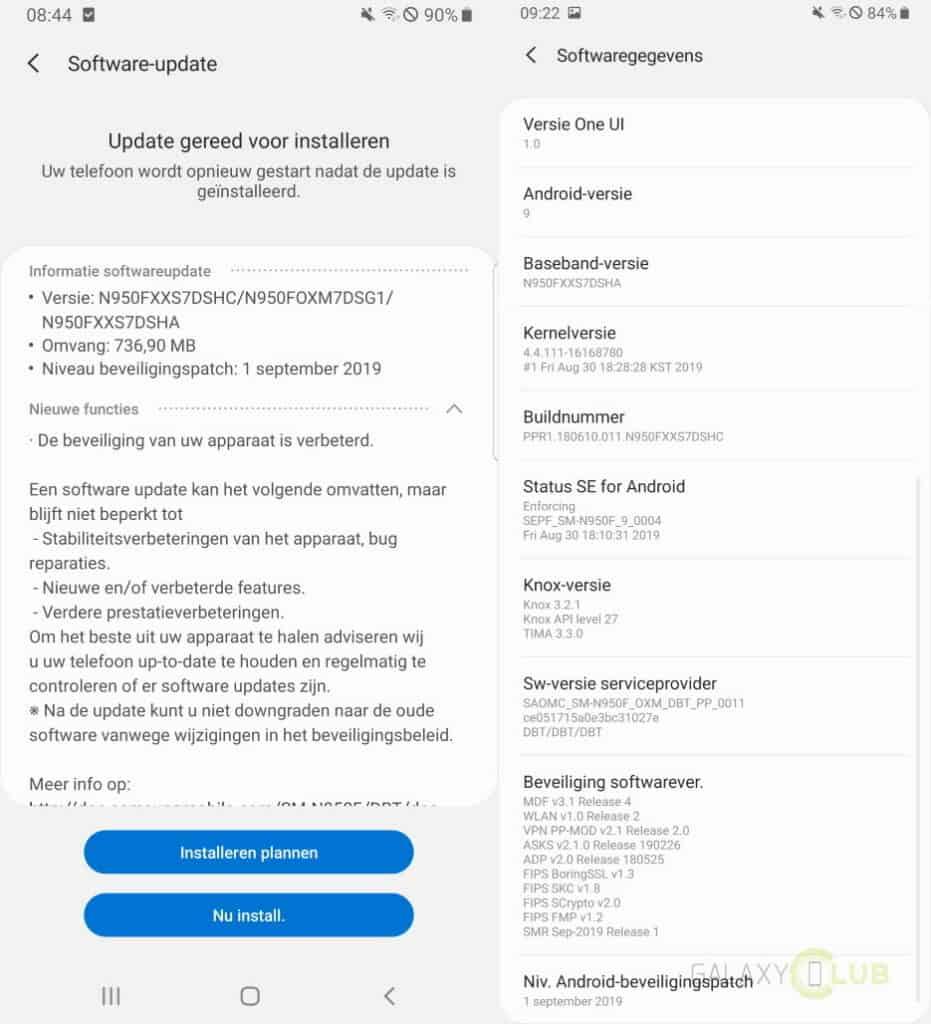 galaxy note 8 update september 2019 changelog n950fxxs7dshc