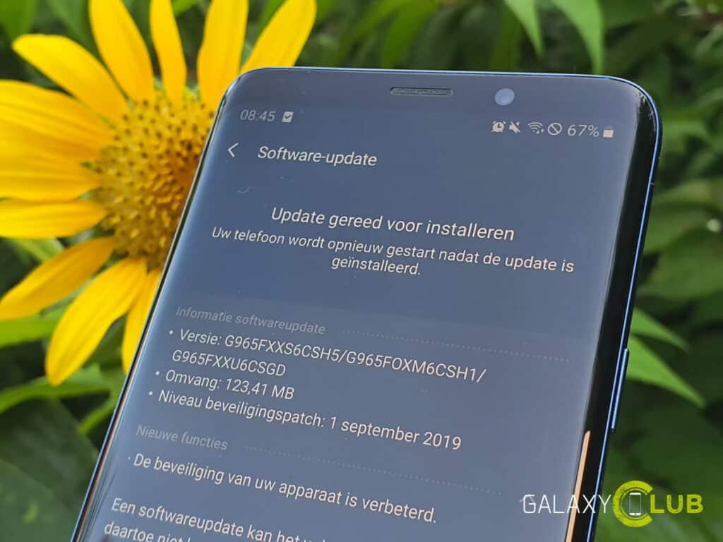samsung galaxy s9 update september 2019