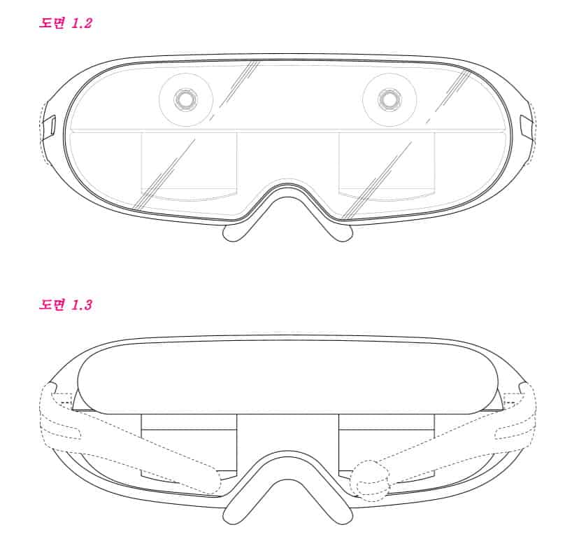 According to the Samsung patent application renders, the headset features two projection screens (one in each lens)