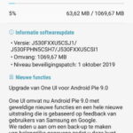 galaxy j5 2017 update android 9 pie nederland screenshot 1