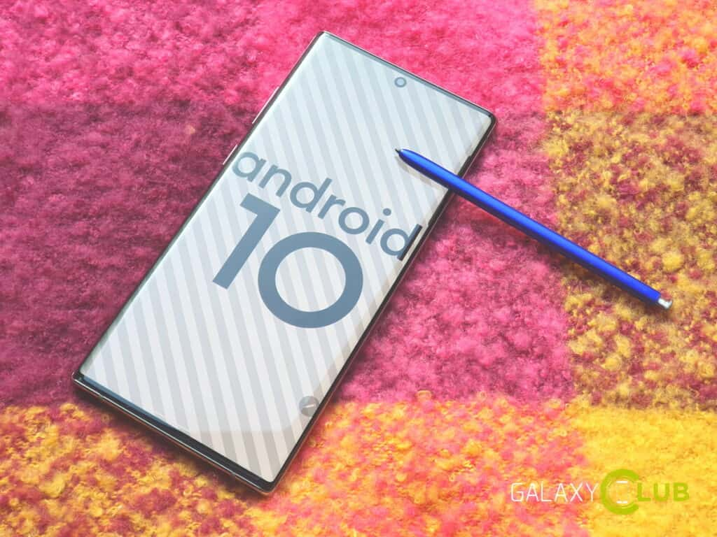 samsung galaxy note 10 met android 10 preview